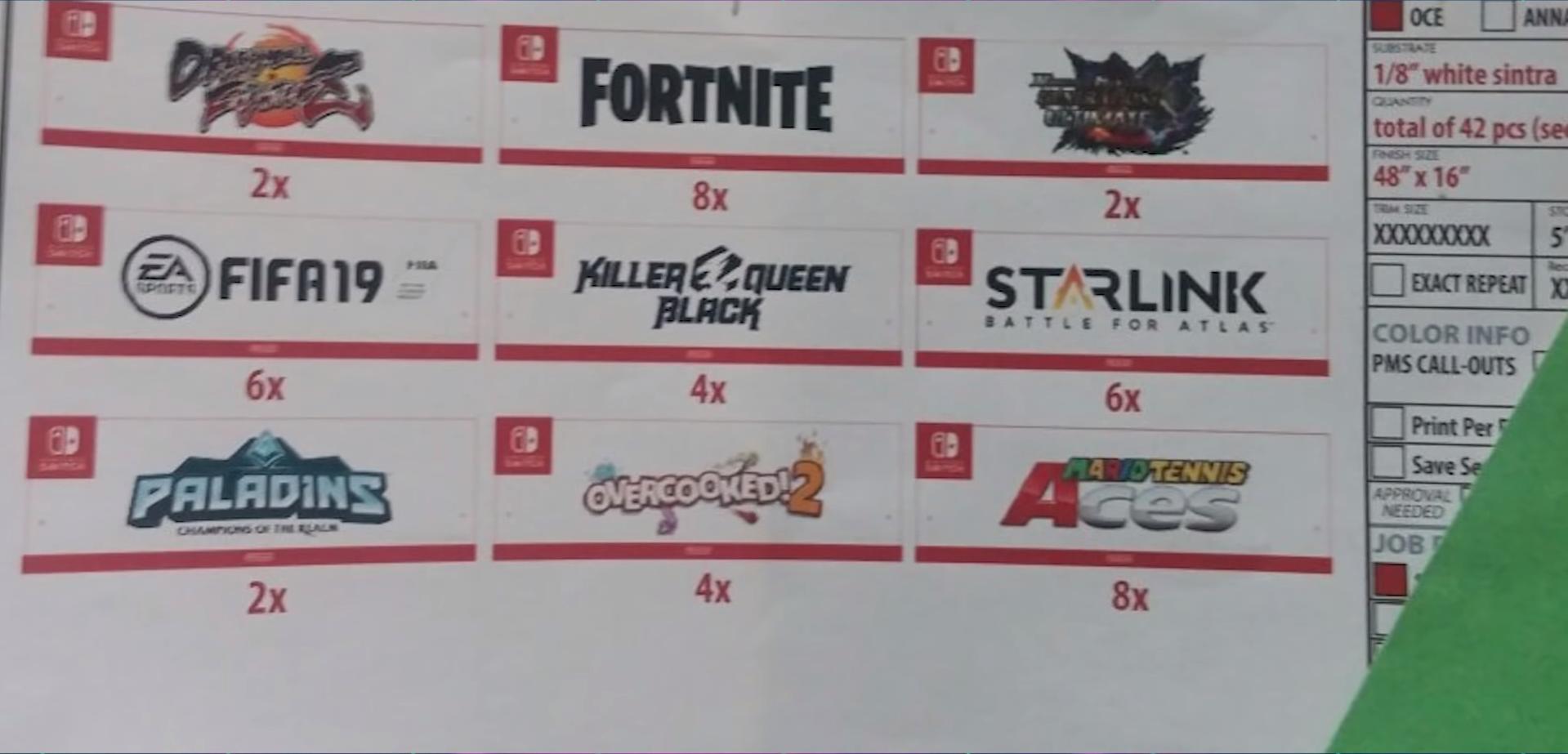 Nintendo בתערוכת E3 2018 - הדלפות