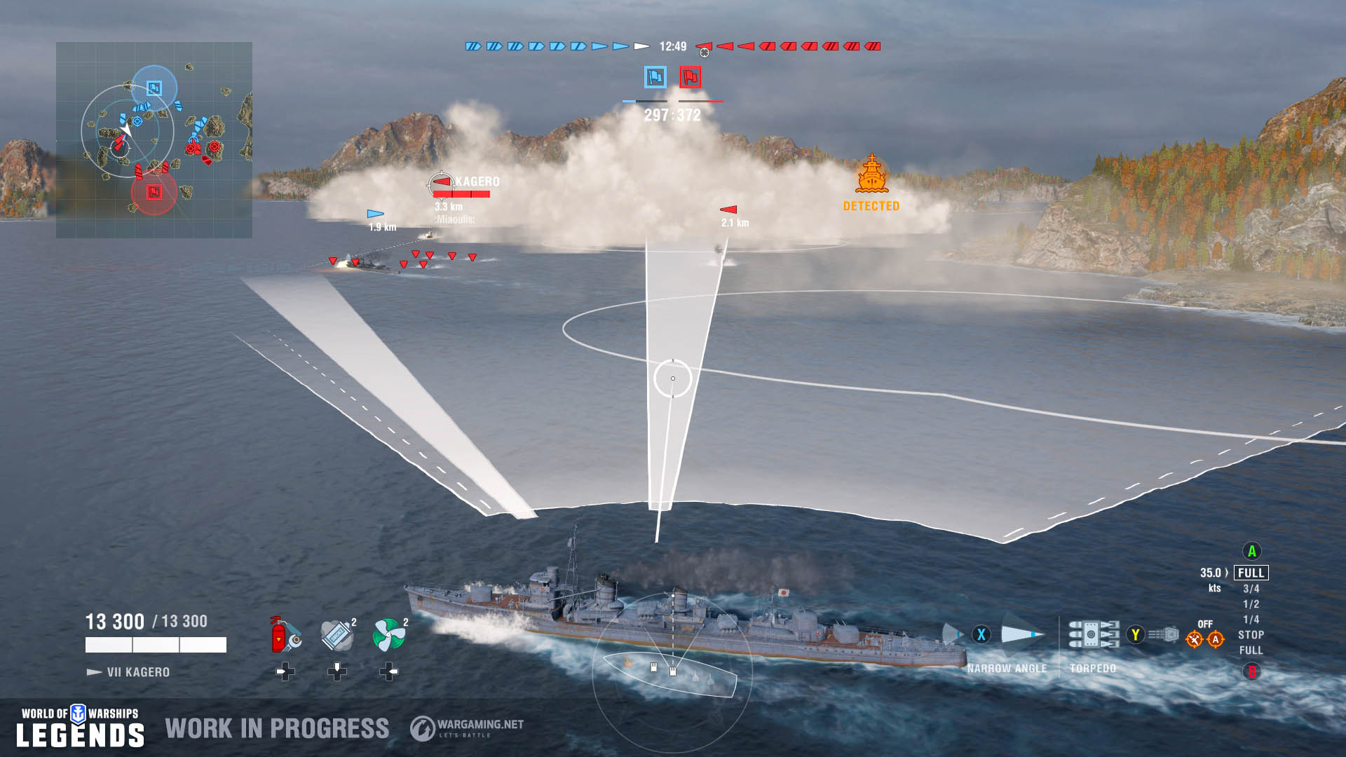 World of Warships: Legends - Aiming