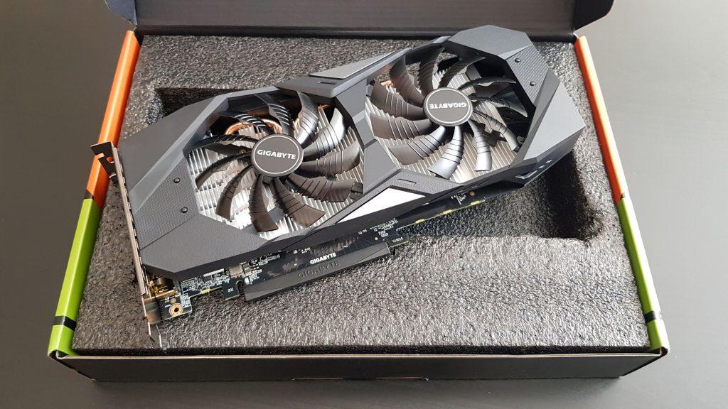 Gigabyte GTX 1650 inside box