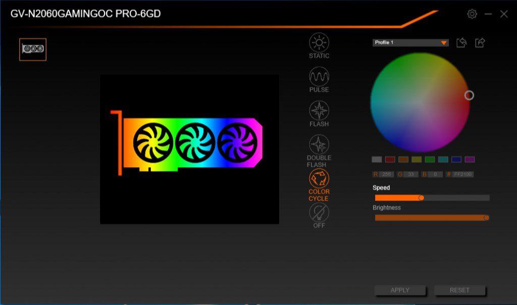 Gigabyte RTX 2060 Gaming OC Pro RGB software