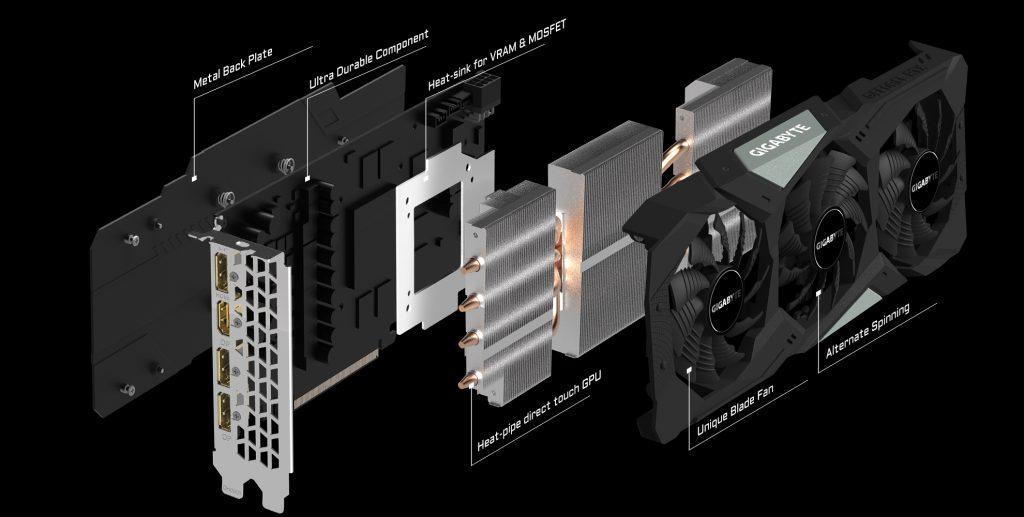 Gigabyte RTX 2060 Gaming OC Pro cooling