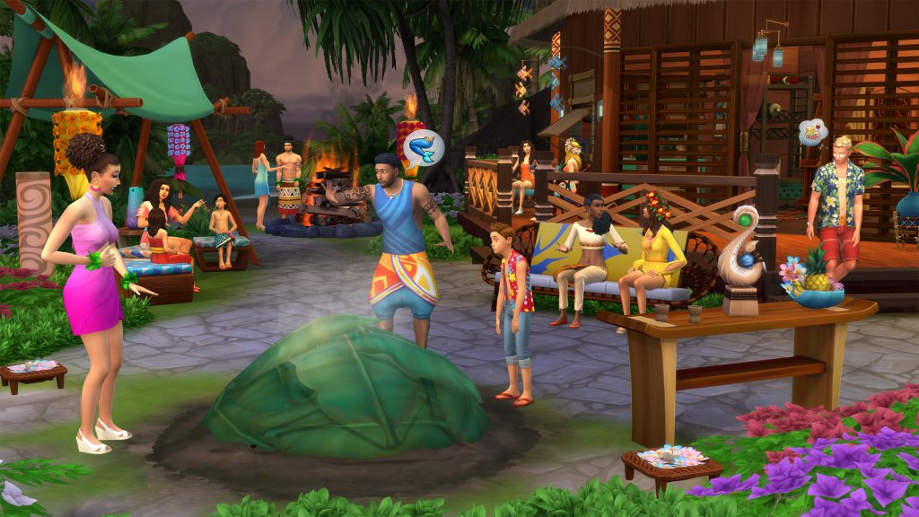 Sims 4 Island Living Party