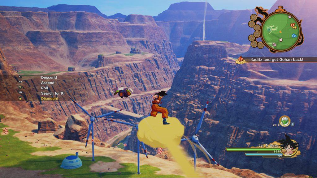 Dragon Ball Z Kakarot Flying