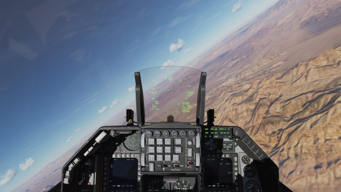 DCS world F16 cockpit