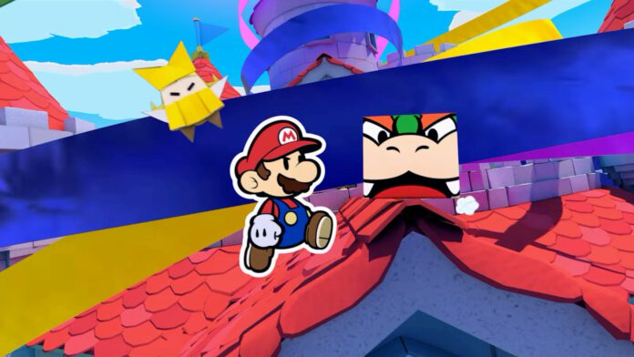 paper mario the origami king bowser