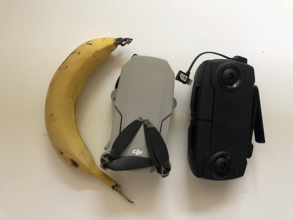 dji mavic mini banana for scale