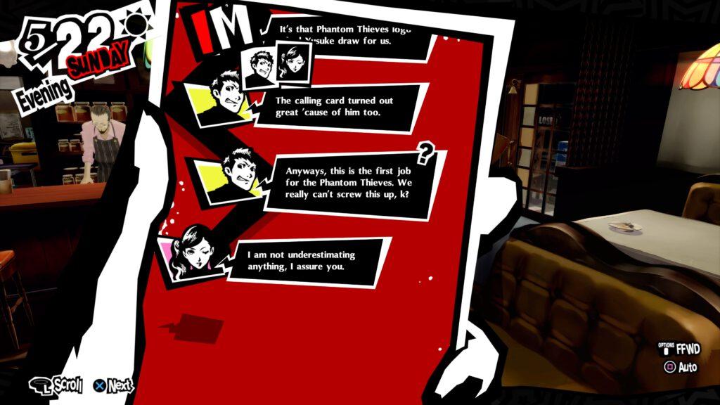 Persona 5 Royal Texting