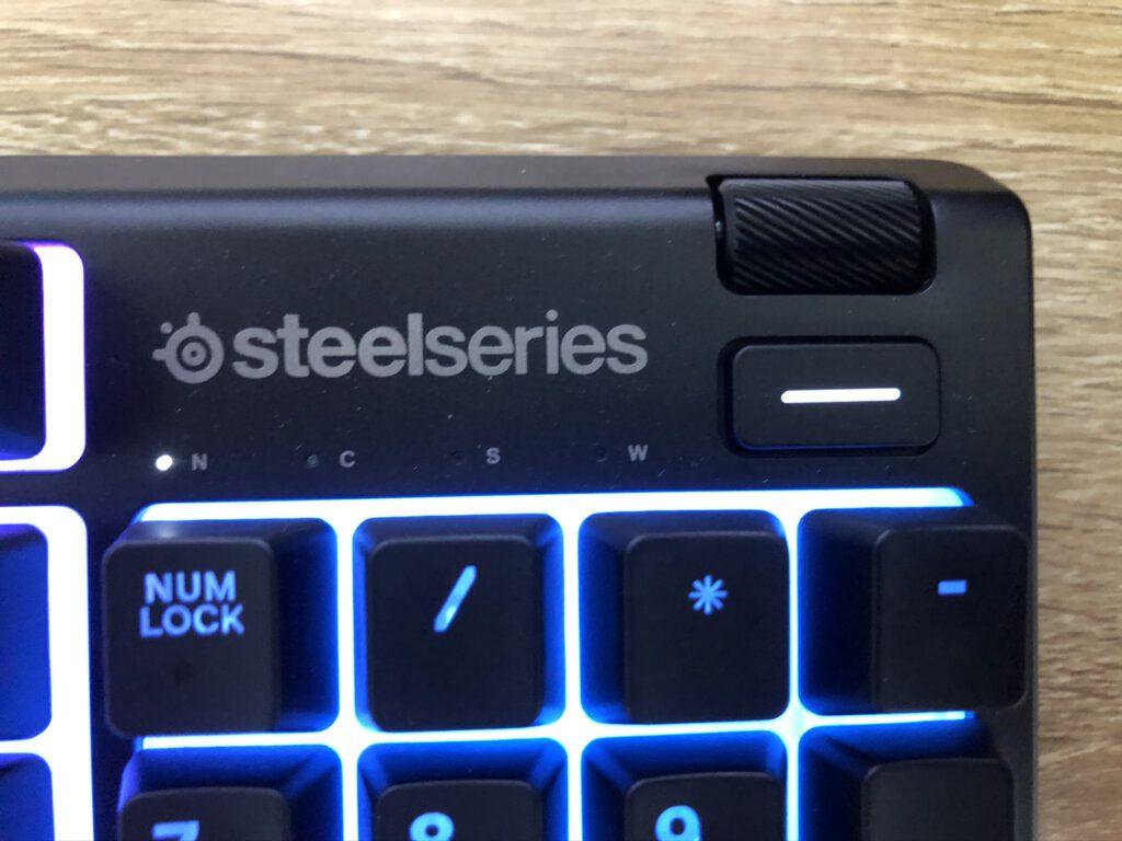 steelseries apex 3 keyboard volume