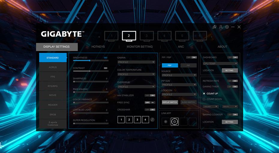 gigabyte g32qc Panel