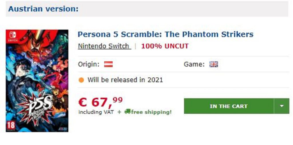 persona 5 scramble gameware