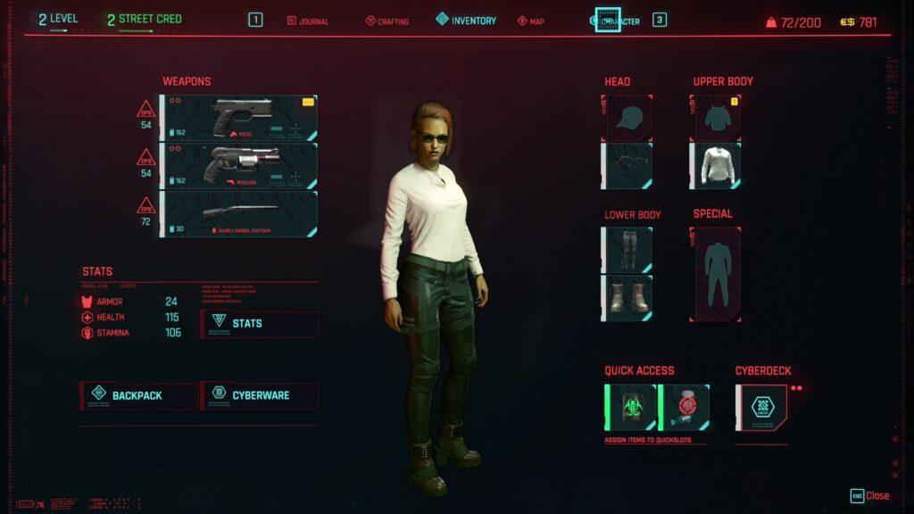 cyberpunk 2077 character v