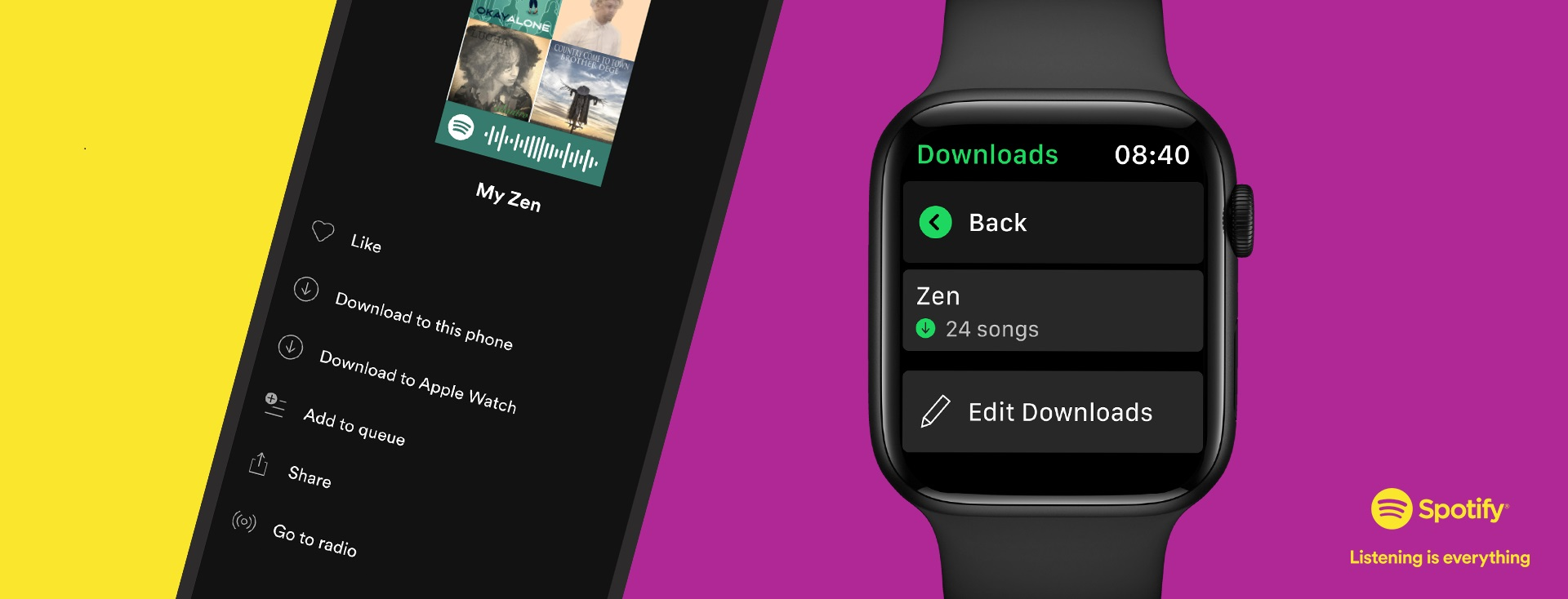 Apple Watch Support Spotify Song Download